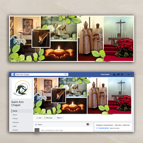 Facebook cover for Saint Ann chapel