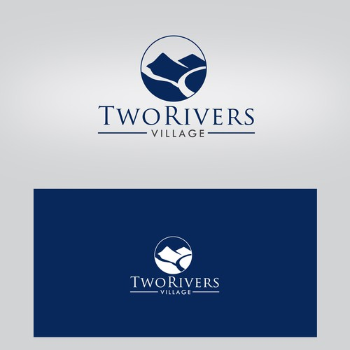 Two Rivers Village logo - a housing community where the Eagle and Colorado rivers meet.