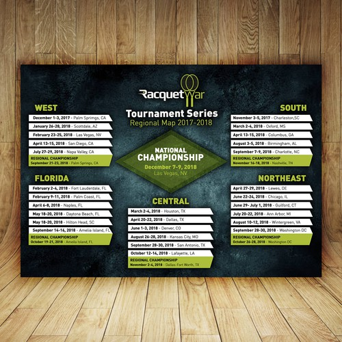 Racquet War Tournament Series Poster