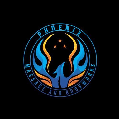 phoenix logo for massage