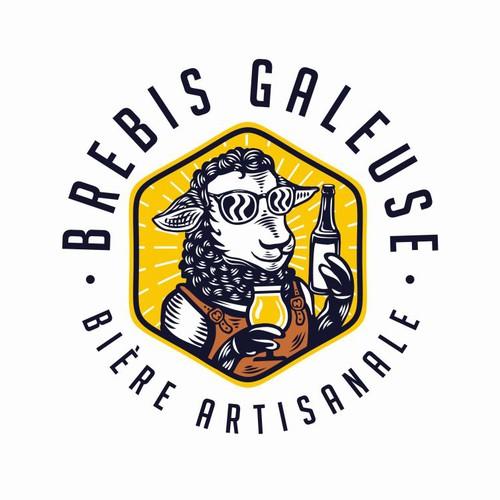 French Craft Brewery Logo