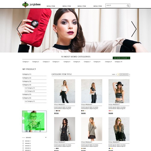 SHOW US YOUR BEST! Build an awesome website mock-up for future online clothing website