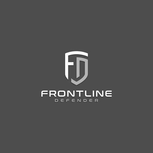 Frontline Defender Virus Protection logo design
