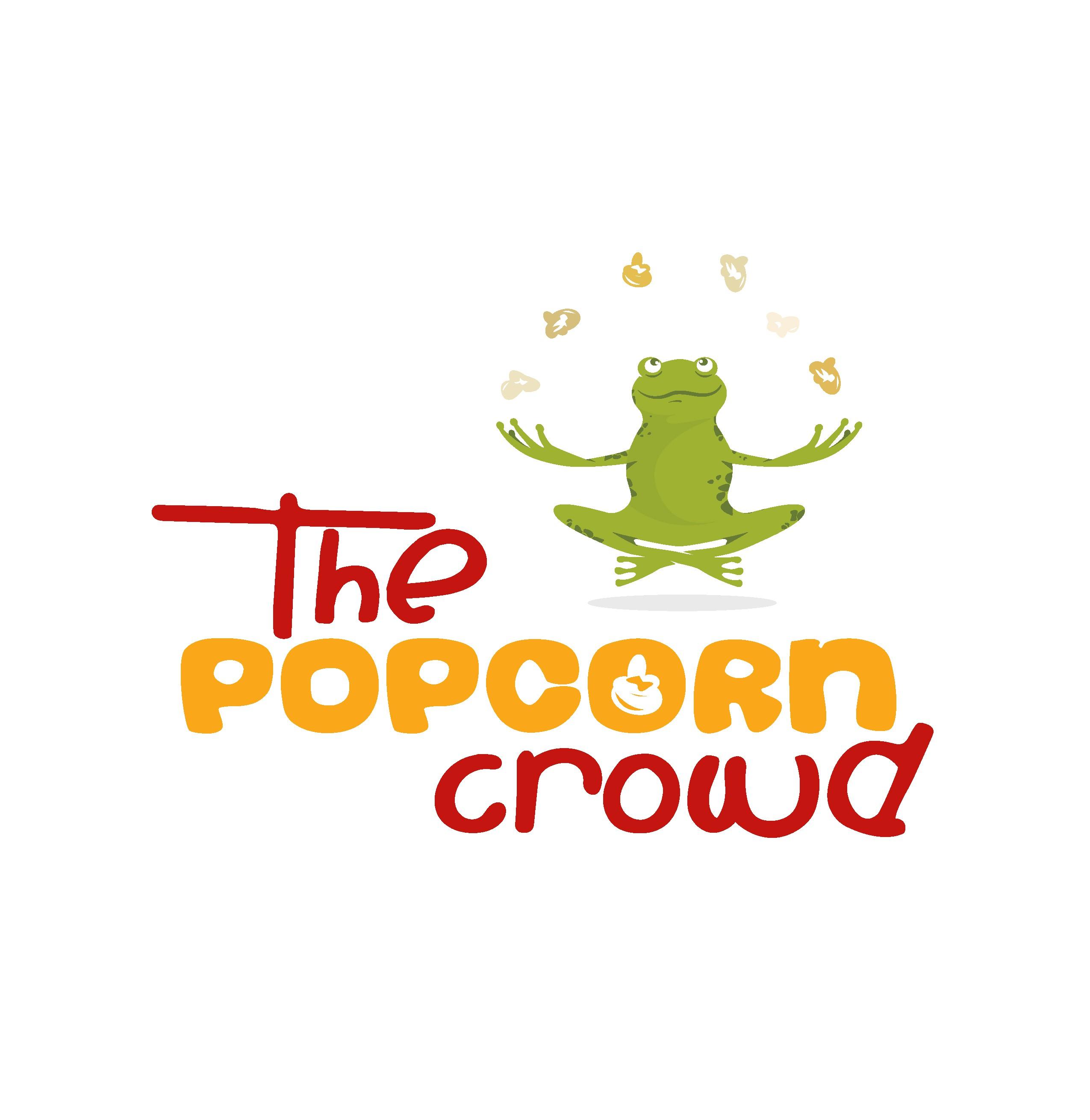 Create a fun design for a gourmet popcorn business.