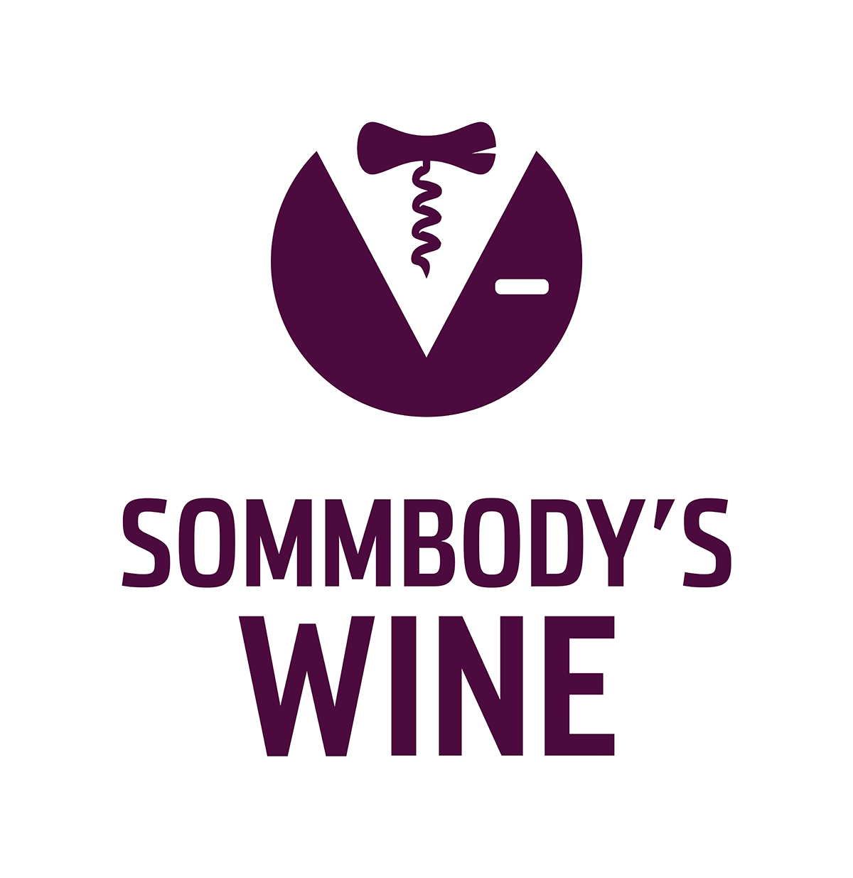Sommbody's Wine logo should pour whimsical luxury