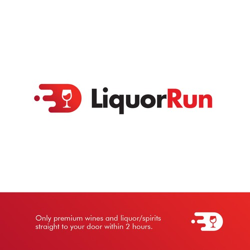 Logo for liquor/spirits fast delivery service.