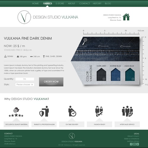 website design for VULKANA