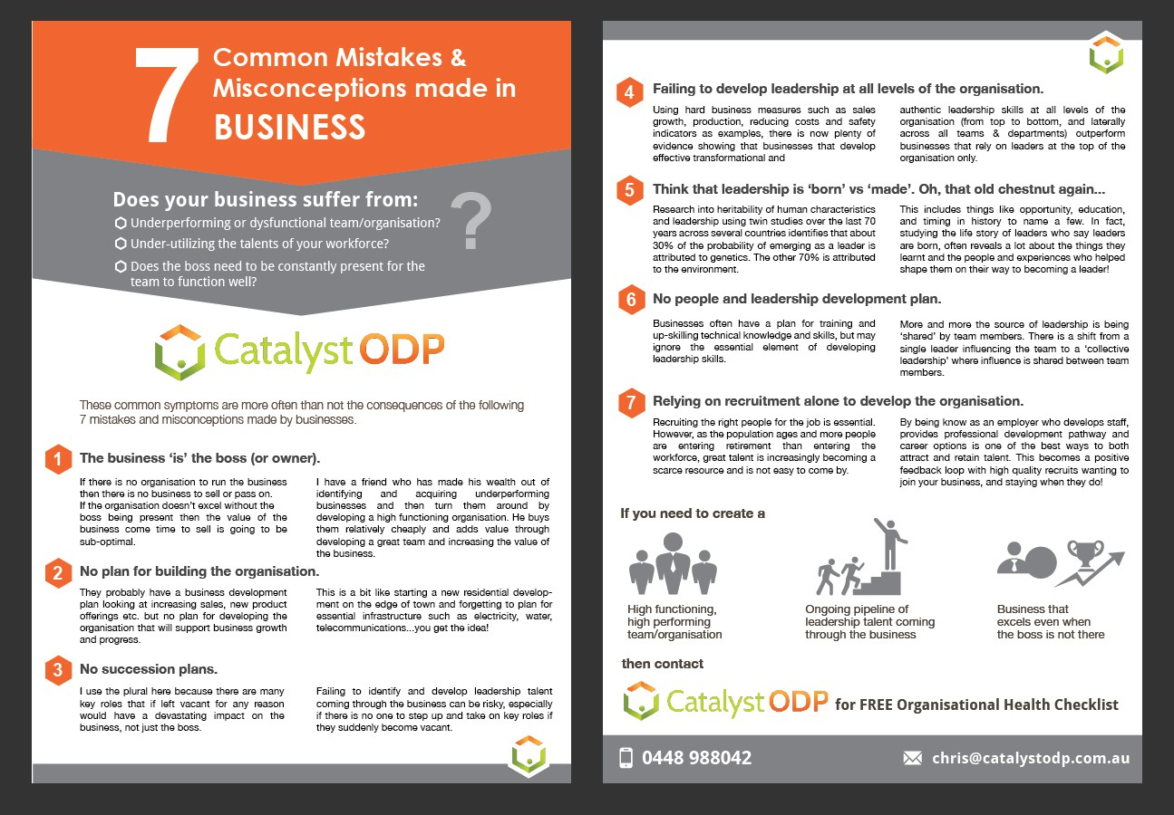 Create a great PDF design for Catalyst ODP  - my content , your graphic design