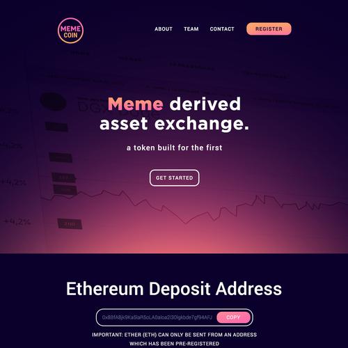 MemeCoin Landing Page