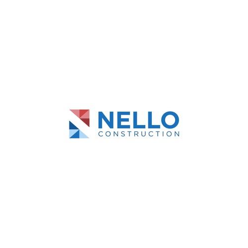 Modern logo for Nello construction