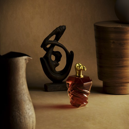 Perfume bottle and cap