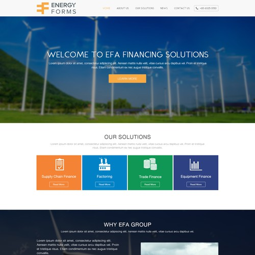 Natural Power home page Design