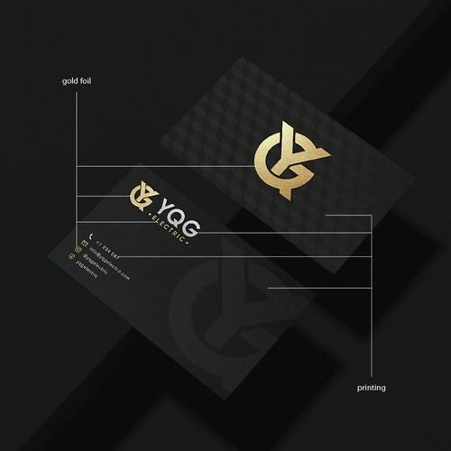 elegant monogram logo for electric company
