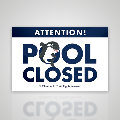 Bold Pool Closed Sign