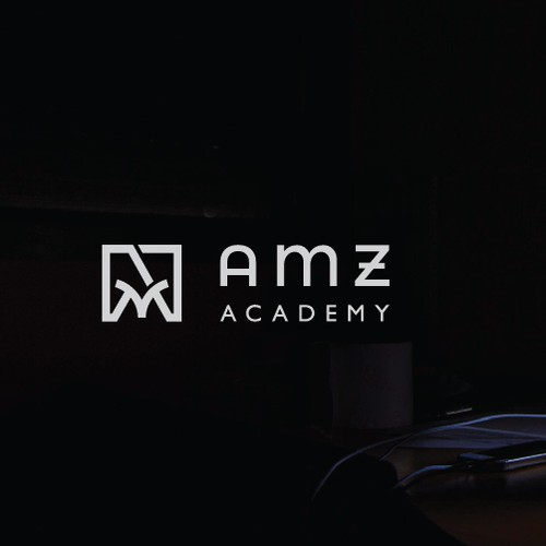 AMZ lettering abstract concept for AMZ Academy