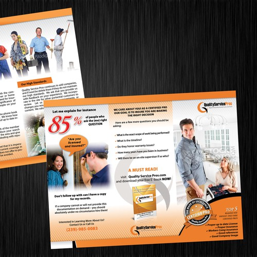 Create the next print design for Quality Service Pros