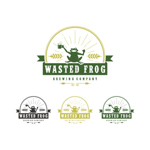 classic logo for WASTED FROG BREWING COMPANY