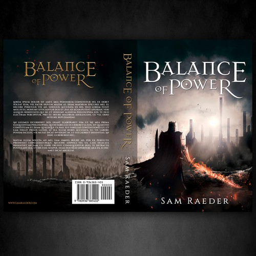 Book cover design for a dark fantasy novel