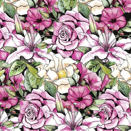 Blumen-Illustration für einen Badeanzug