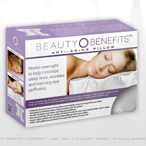 Create a Retail Package Design for a Beauty Sleep Pillow