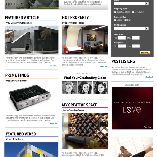Website  - Office Space for Creative People