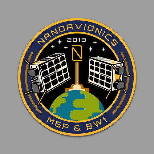 MISSION PATCH for satellite mission