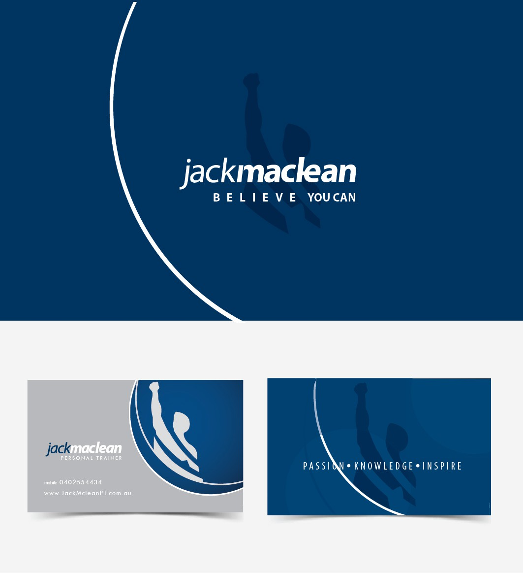 Create the next logo and business card for Jack Mclean
