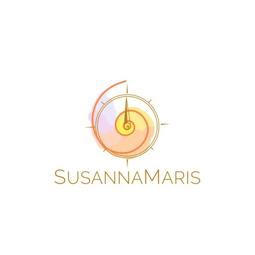 Logo concept based on the golden ratio and a compass