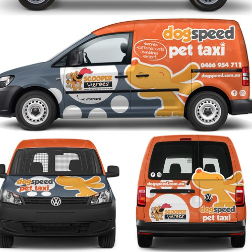 DOGSPEED TAXI Van Wrap Design