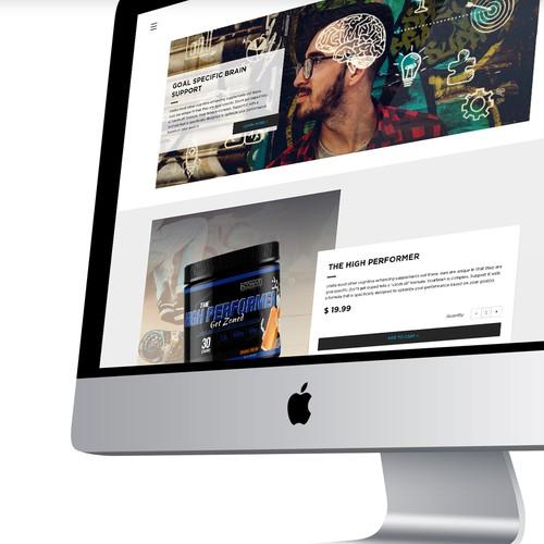 NOOWAVE Website Design concept