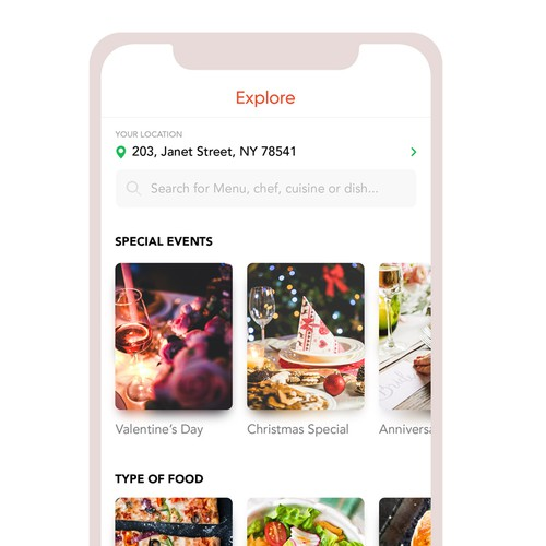 Ui Concept for Cheflit Application