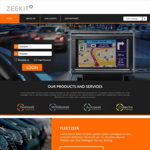Zeekit.no Homepage Design