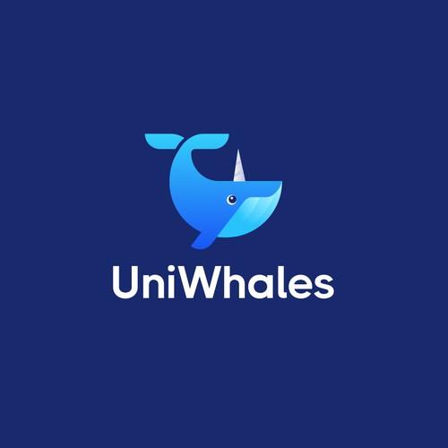 Fun tech logo for a cryptocurrency analytics platform