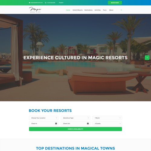 Design the best web page for MAGIC, be creative and use colors that command attention and magic!!