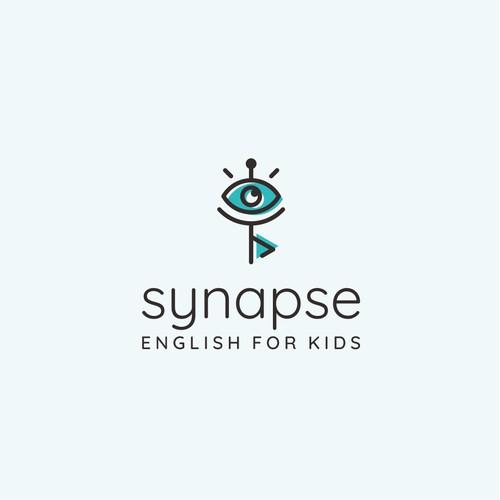 Cheerful logo for English education company: Synapse
