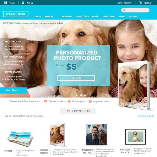 IMAGEBOX E-commerce web design