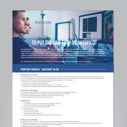 Single-Page Job Advertisement