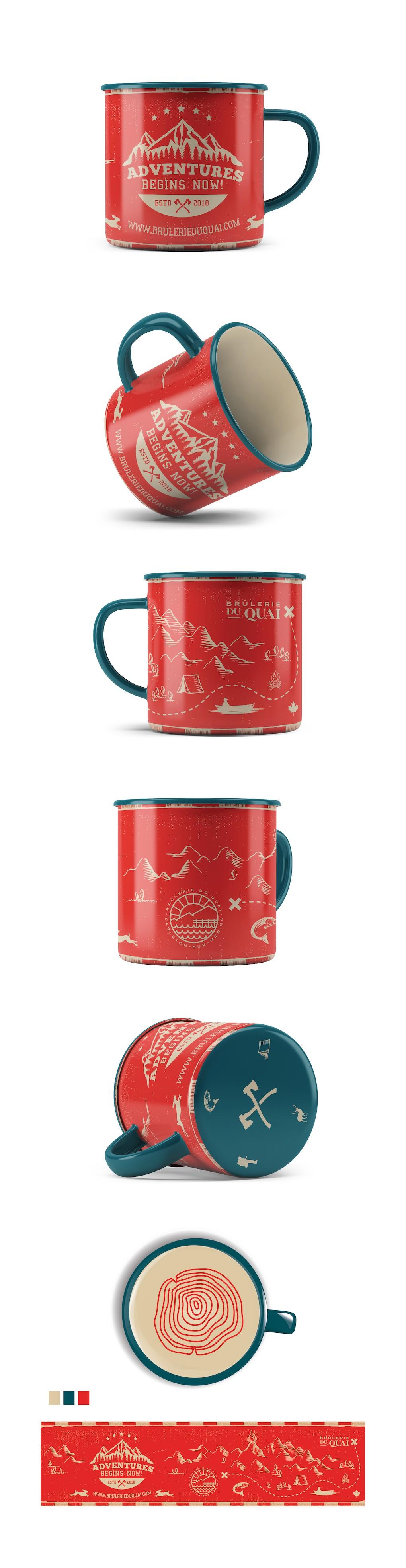 Design my coffee mug for my next camping / flyfishing trip