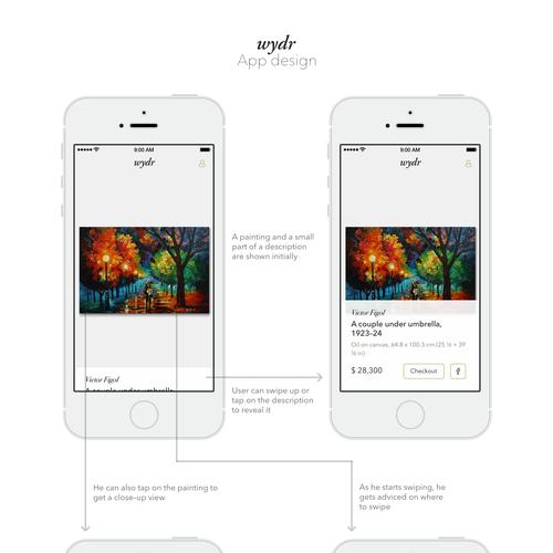 A Tinder for Art app