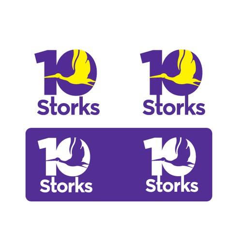 Create the next logo for 10 Storks