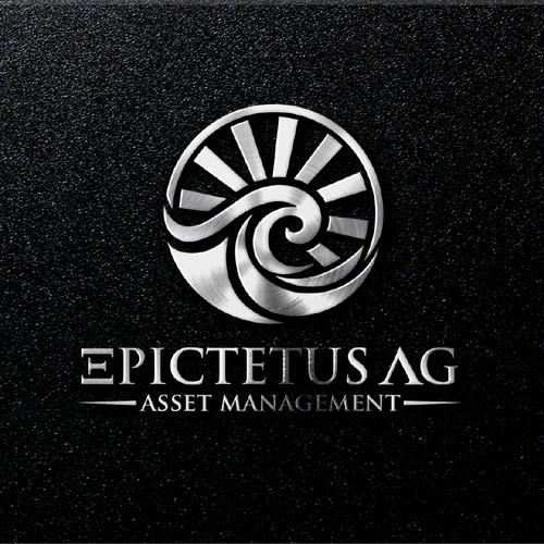 a Logo that inspire trust and luxury financial services starting from the philosopher EPICTETUS