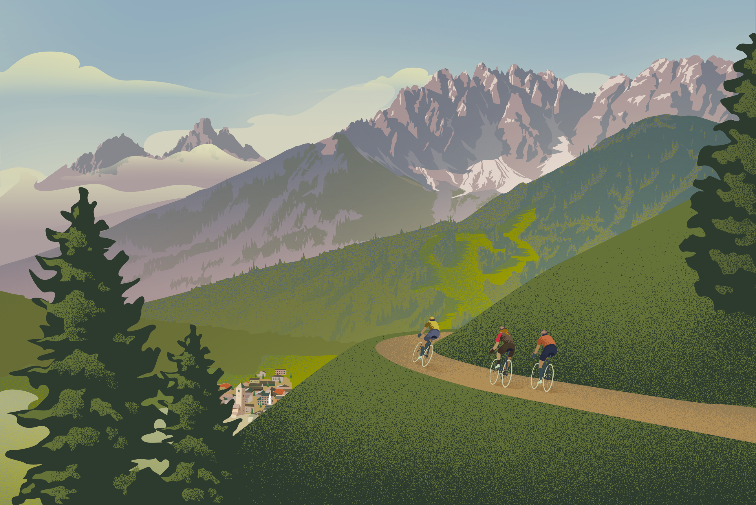 Poster for Eroica Dolomiti, Vintage Cycling Event