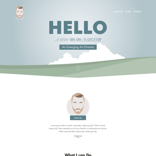 Landing Page for M.M Steen