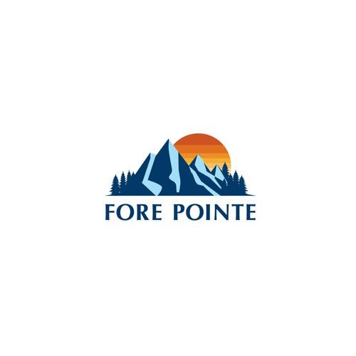 Logo for hostel in a mountainous region