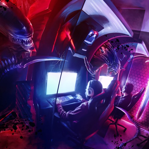 Alien Cybercafe