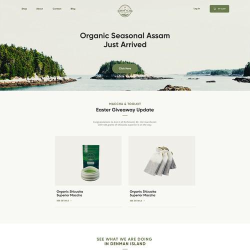 Denman Island Tea Company Website Design