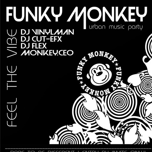 Elegant and hip nightclub event flyer