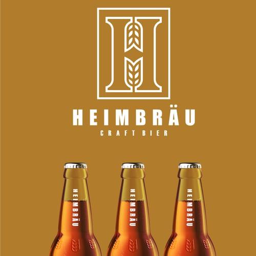 Simple logo for HEIMBRAU CRAFTBIER