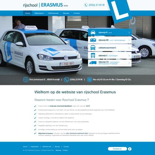 website design voor Rijschool Erasmus