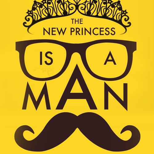 Create a book cover for a relationship book aimed at women. Title: The New Princess is A Man
